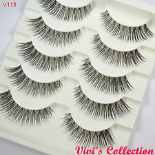 Vivi'S COLLECTION 5 paia v113 NATURALE NERO Ciglia Finte False Eye Lashes
