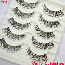 Vivi's Collection 5 Pairs V113 Natural Long False Eyelashes Handmade Eye Lashes