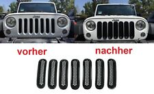 2007-2016 JEEP WRANGLER JK 7pc GRILL NERO TUNING FRONT GRIGLIA-BARBECUE