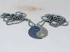 Couples Yin Yang Sterling Silver Necklace