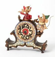 Disney Traditions Jaq and Gus A stitch in Time Clock by Jim Shore    23187