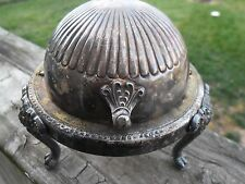 FB Rogers 1883 Dome Roll Top Footed Butter Dish Model 273