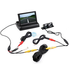 "Car Truck 4'3"" TFT LCD Foldable Monitor Wired Backup Camera System 19.7"" Cord"
