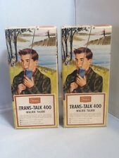 Vtg Sears Roebuck Trans-Talk 400 Walkie Talkie Set of 2
