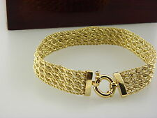 "14kt Yellow Gold Fancy  Mesh Bracelet. 7.5"" inch .MA PERU."