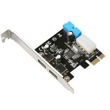 PCI Express USB 3.0 2 Ports Panel Front with 4-Pin & 20 Pin Control Card Adapter