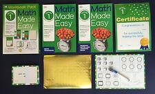 DK First Grade Math Made Easy Children's Book Workbook Box Set Homeschool NEW
