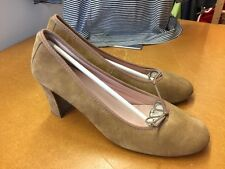 Premium Shoes Pumps Camel Beige Velour Textil Made In Spain Gr 39 Top Zustand