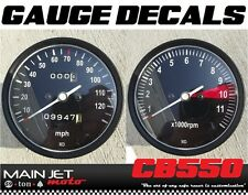 CB550 CB550F CB500T Honda Cafe Racer Gauge Face Decal Overlay Applique Tach CB