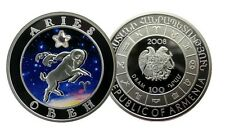 ARMENIA: 100 Drams plata 2008 ARIES - Serie Horoscopo - Silver