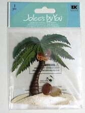 Palm Tree Sand Coconuts Tropical Island Beach  Jolee's 3D Stickers