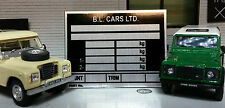 Land Rover Series 3 Stage 1 V8 Defender 90 110 Chassis Information Plate Plaque
