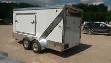 New R&R ALL Aluminum 7x16+2' V Nose Toy Hauler Camper Motorcycle Trailer Bed