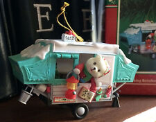 ENESCO CHRISTMAS ORNAMENT: TRACKING REINDEER PAUSE LIGHT UP CAMPER NEW