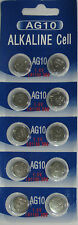 10 Pk AG10 LR1130 389 390 189 L1131 LR54 D389 Alkaline Button Cell Battery