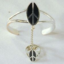 OVAL PEACE SIGN SLAVE BRACELET jewelry women girls  #14