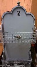 Ixia Regal Shelf Basket Metal Decora in Blue - 64 x 12cm