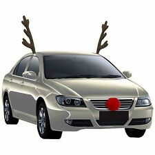 Rudolph Car Costume Kit, Reindeer Antlers and Nose Accessories Christmas Fun