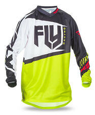 FLY RACING MX Motocross MTB BMX Kids 2017 F-16 Jersey (Black/Lime) Youth Small