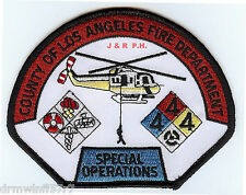 """Los Angeles County - Air Ops / Special Ops., CA (5"""" x 3.75"""" size)  fire patch"""
