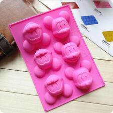 6 Cavity Cake Mold Silicone Soap Mold DIY Baking Tools for Mickey Mouse Lover