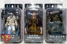 "RIPLEY DOG ALIEN & WEYLAND-YUTANI Alien 3 7"" Figures Set of 3 Series 8 Neca 2016"