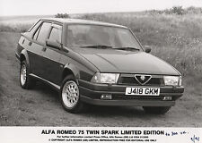 Alfa Romeo 75 Twin Spark Limited Edition Press Photograph 1991- UK issue