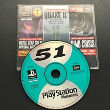 Metal Gear,Quake II,Dino Crisis Demos Official UK Playstation 1 PS1 Magazine 51