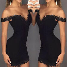 Women Summer Off Shoulder Evening Party Cocktail Bandage Bodycon Mini Club Dress