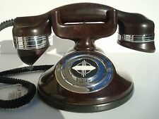 Antique Automatic Electric Monophone telephone 1A original Mahogany