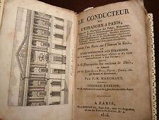GUIDA PARIGI - Marchant : Le Conducteur de l'Etrangeur a Paris 1814 -  4 tavole