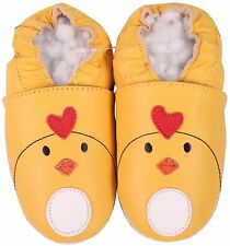 shoeszoo chicky yellow 12-18m S soft sole leather baby shoes
