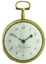 Berthoud Uomo mandrino orologio da tasca, in SPINOTTO chassis, circa 1780, 52,5mm