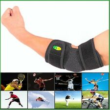 Black Elbow Brace Support Neoprene Sleeve Compression Tennis Sport Pain Relief