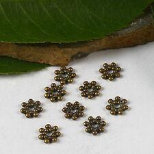 1000pcs bronze tone daisy spacer bead h3008