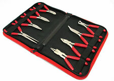 8pc Mini Plier Set long / bent nose,side / end cutter / combination Bergen 1726