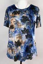 NEW WOMEN  TUNIC  size 18/20 TOP  SHORT SLEEVE  BLOUSE  8637