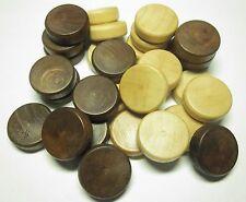 Ersatzspielsteine für Backgammon 25 x 8 mm Spielsteine Zubehör Holz