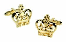 Golden Crown Cufflinks Mens cuff Links in a gift box 10475 Jubilee Gift