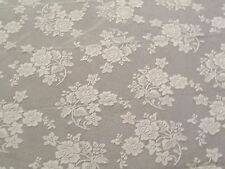 "New Ivory Lace Rose Bouquet design Tablecloth. 60"" x 84"""