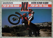 HONDA XL125R, XL250R & XL500R Motorcycle Sales Brochure 1982