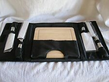 NEW Wood Cheese Fruit Bread Cutting Board & 4 Knives & Black Velcro Close Case