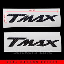 Coppia di adesivi 3D resinati Tmax T max 500 530 CARBONIO NERO in rilievo carbon