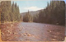 Idaho Postcard LOCHSA RIVER Powell Ranger Station Lewis & Clark Camp Ross Hall