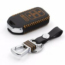Genuine Leather Car Key Cover holder remote car key case for honda accord 2013