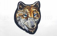 WOLF WILD ANIMAL Embroidered Iron On Applique Patch Forest Animals Free shipping