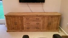 NEW SOLID WOOD RUSTIC CHUNKY WOODEN EXTRA LARGE SIDEBOARD MADE TO MEASURE