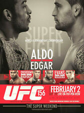 UFC 156 JOSE ALDO v FRANKIE EDGAR Las Vegas 2/2/2013 Official MMA Event Poster