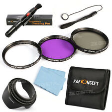 58mm Lens Filter Kit UV FLD CPL Hood Pen Cloth For Canon 450D 100D 600D 18-55mm