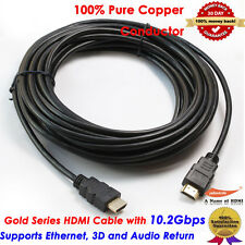 Standard Long HDMI v1.4 Cable 30FT 9.2M, Yellowknife Gold Series, US Seller